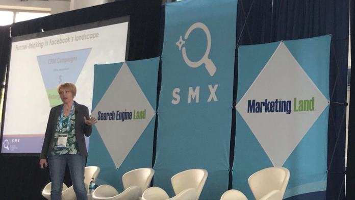 Susan Wenograd, account group director at Aimclear, speaking at SMX Advanced