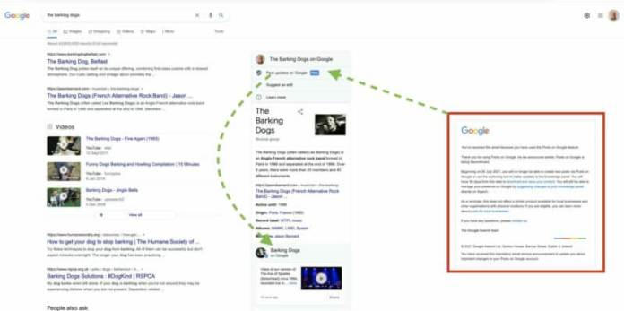 Google Posts for knowledge panels example