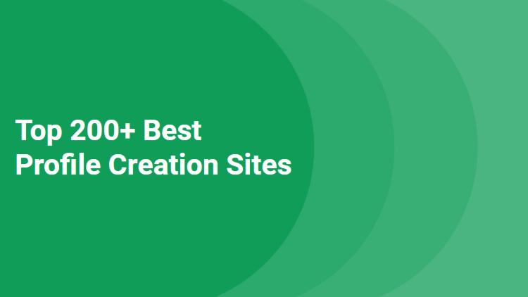 top profile creation sites