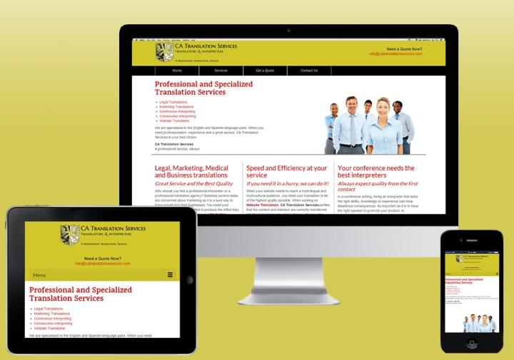 CA Translation Services web design and SEO