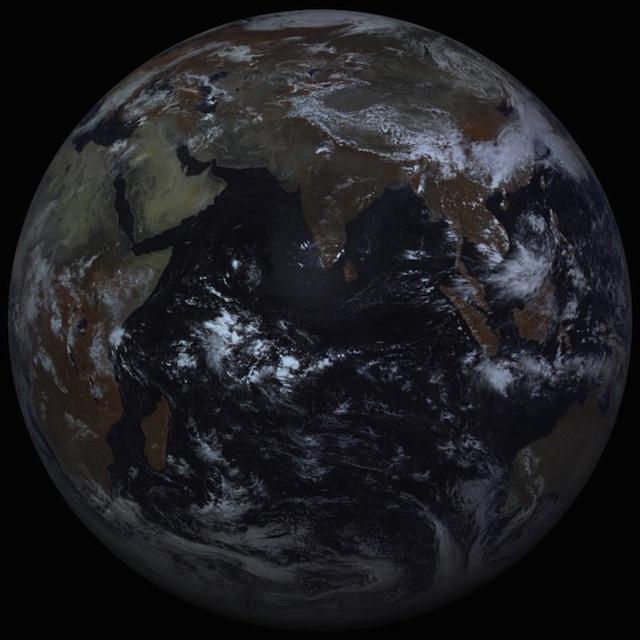 Фотография Земли с орбиты 14 мая 2012 года 10:00 МСК