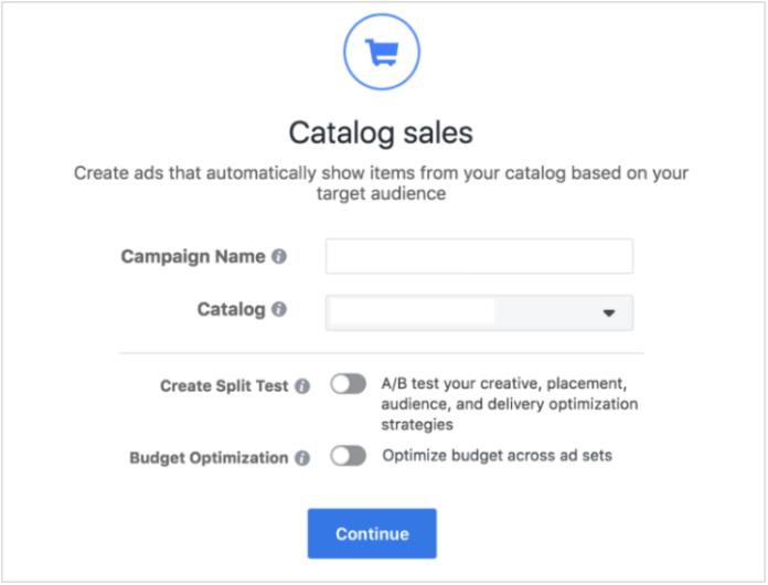 Setting up a dynamic Facebook ads campaign