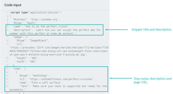 how to schema code example