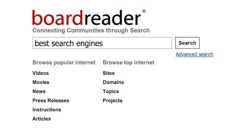 Boardreader Forum Search Engine