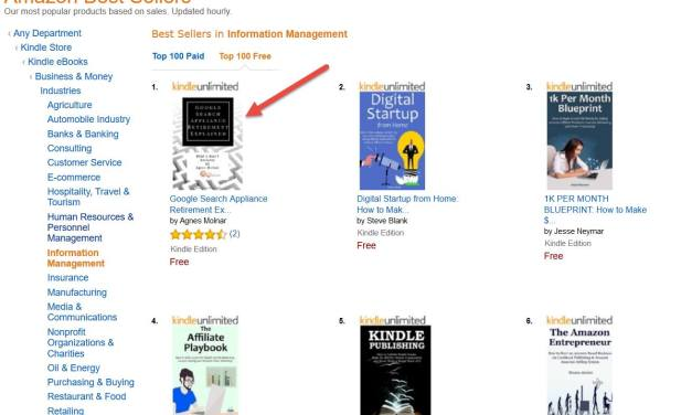 """GSA e-book is #1 Best Seller in """"Information Management"""" Category on Amazon!"""