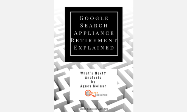 E-book: Google Search Appliance Retirement Explained – Coming soon!