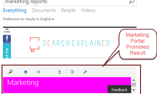"SharePoint Search Query Rules: Promoting Results (""Best Bets"")"