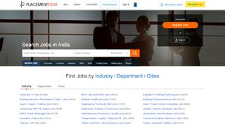 PlacementIndia.com | Jobs in India | Job Search | Freshers Job openings | MNC Jobs Vacancies India