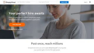 SimplyHired | Post Jobs for Free