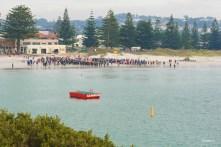 Albany Half-Ironman triathlon start at Middleton Beach
