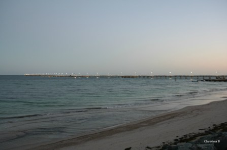 Busselton jetty early in the morning before the start of Ironman WA