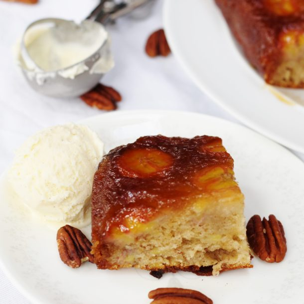 Caramelly Banana Upside Down Cake