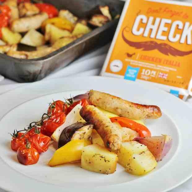 Heck Chicken Italia Sausage Traybake