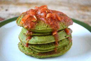 Keffir Kale pancakes #CookOnceEatTwice