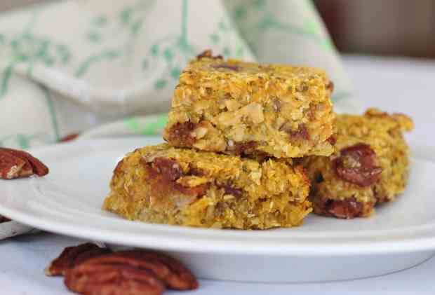 Pumpkin cereal bars