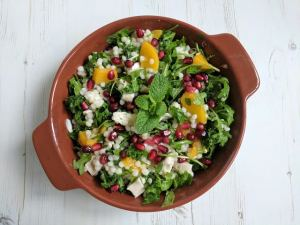 peachy giant couscous salad #CookOnceEatTwice
