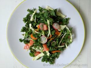 Winter Kale Salad #CookOnceEatTwice
