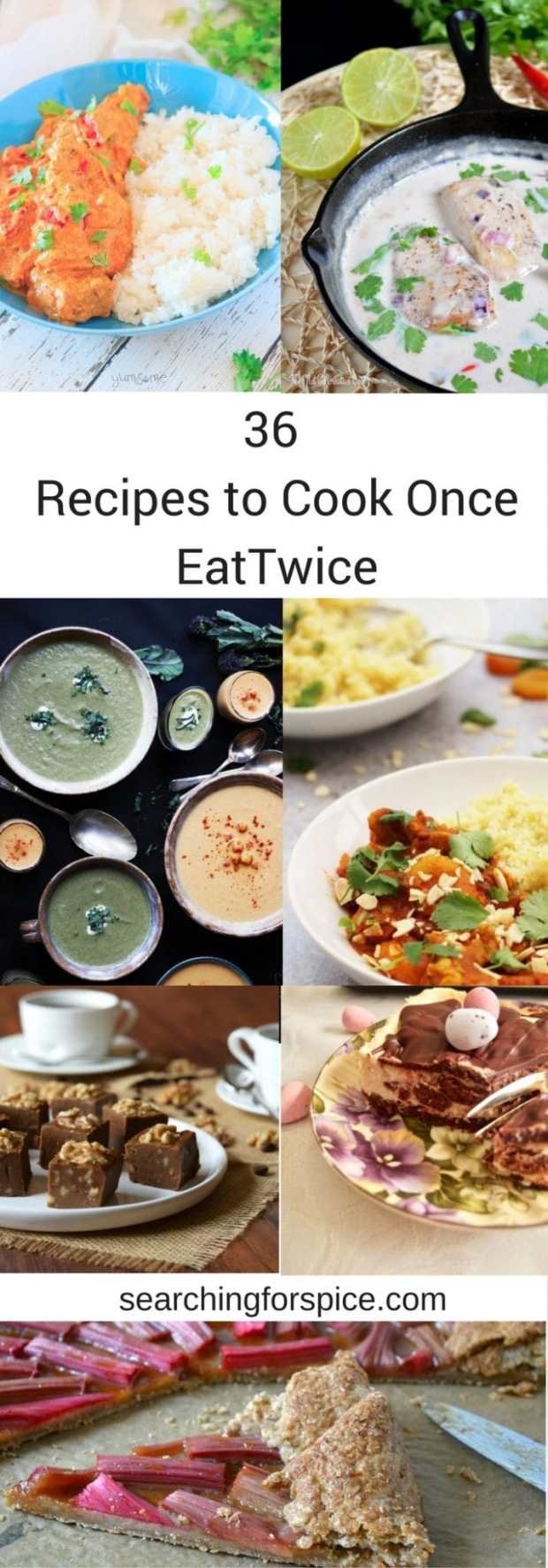 Round up of all the recipes in the April cook once eat twice linky. Lots of ideas for meal planning and some great easy recipes that you can prepare in batches
