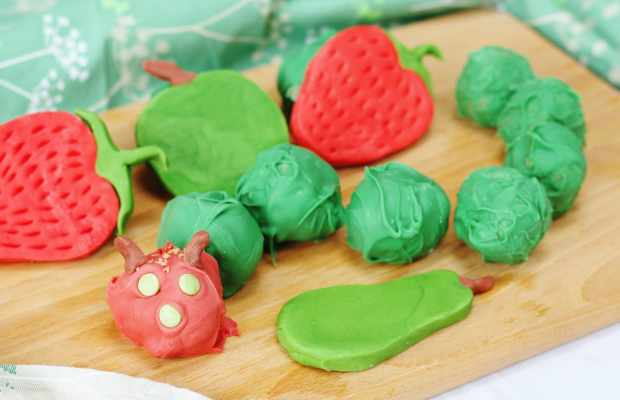 hungry caterpillar cake balls