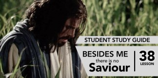 Lesson 38: Beside Me There Is No Saviour