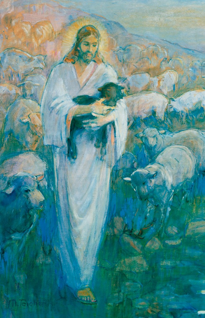 He shall gather the lambs with his arm, and carry them in his bosom, and shall gently lead those that are with young.' (Isaiah 40:11)