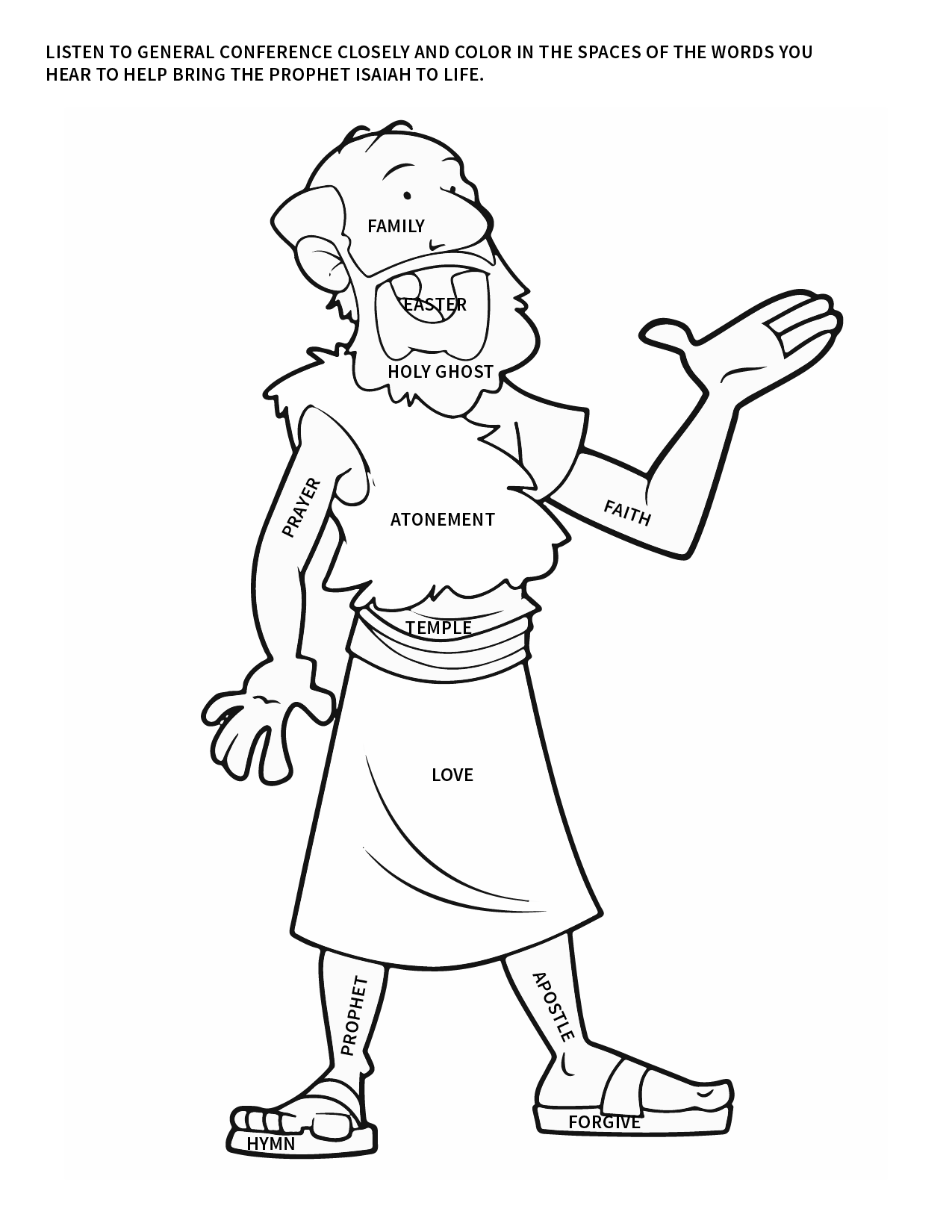 Easy General Conference Coloring Activity