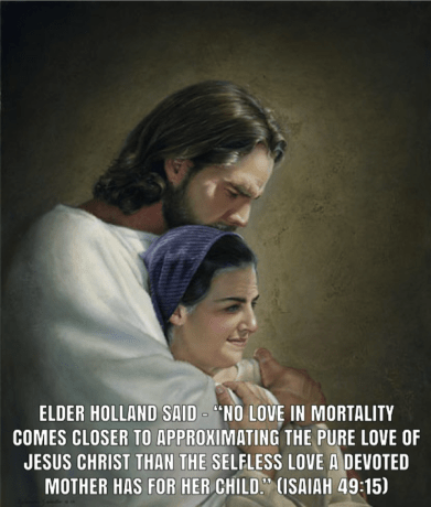 Christ Comforting a Mother with Holland quote