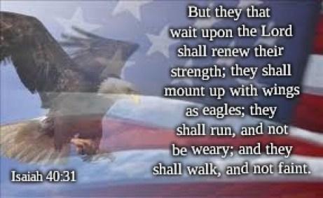 Eagle flag Isaiah 40