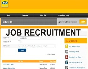 Apply for MTN Fresh Recruitment 2019 (At MTN Portal)
