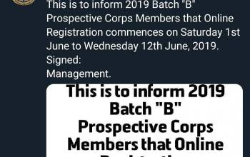 NYSC Batch B Registration 2019 Postponed (See New Date)