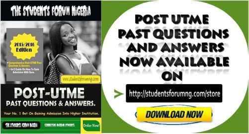 Post-UTME Past Questions & Answers For University And Polytechnic 1