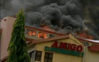 Breaking: See Photos at Amigo Market Fire Outbreak