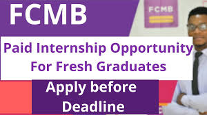 Apply For The FCMB Paid Internship Program 2019 For young Nigerians