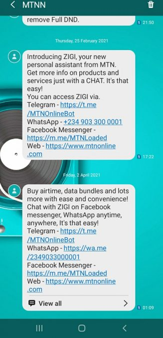 Why you are Unable to Recharge your MTN Line with USSD Code 1