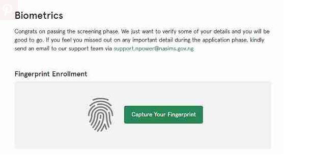 How to Set Up Npower Batch C' Biometrics Fingerprint Enrollment 2021
