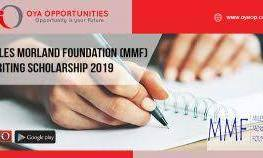Apply For: Miles Morland Foundation Scholarship For Writers 2021 £18,000 8