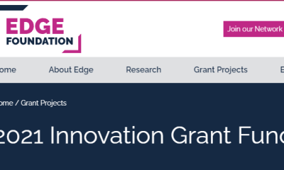 Apply for Edge Foundation Innovation Grant Fund 2021