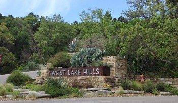 West Lake Hills sign