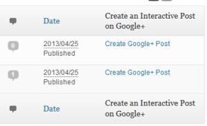 creating an interactive google+ post in wordpress dashboard
