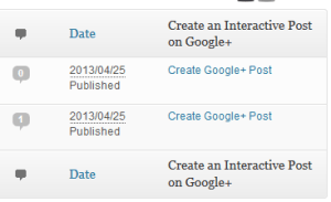 creating an interactive google+ post in wordpress dashboard