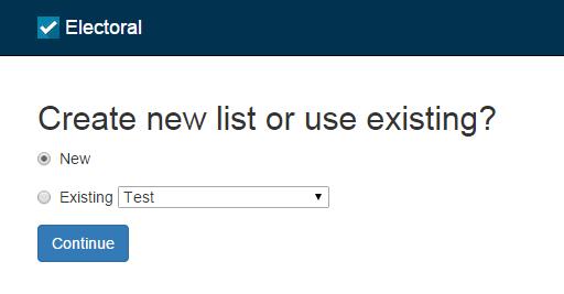 new electoral list