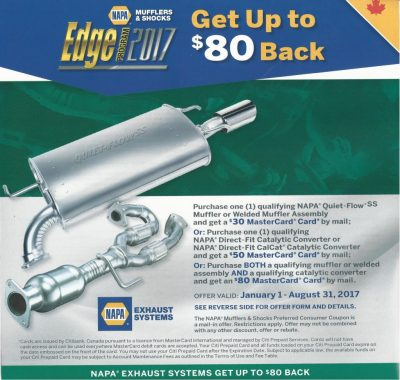 Searles Auto Repair Napa Exhaust promotion