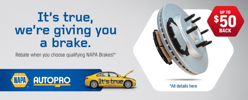 searles auto july and august napa summer brake promotion