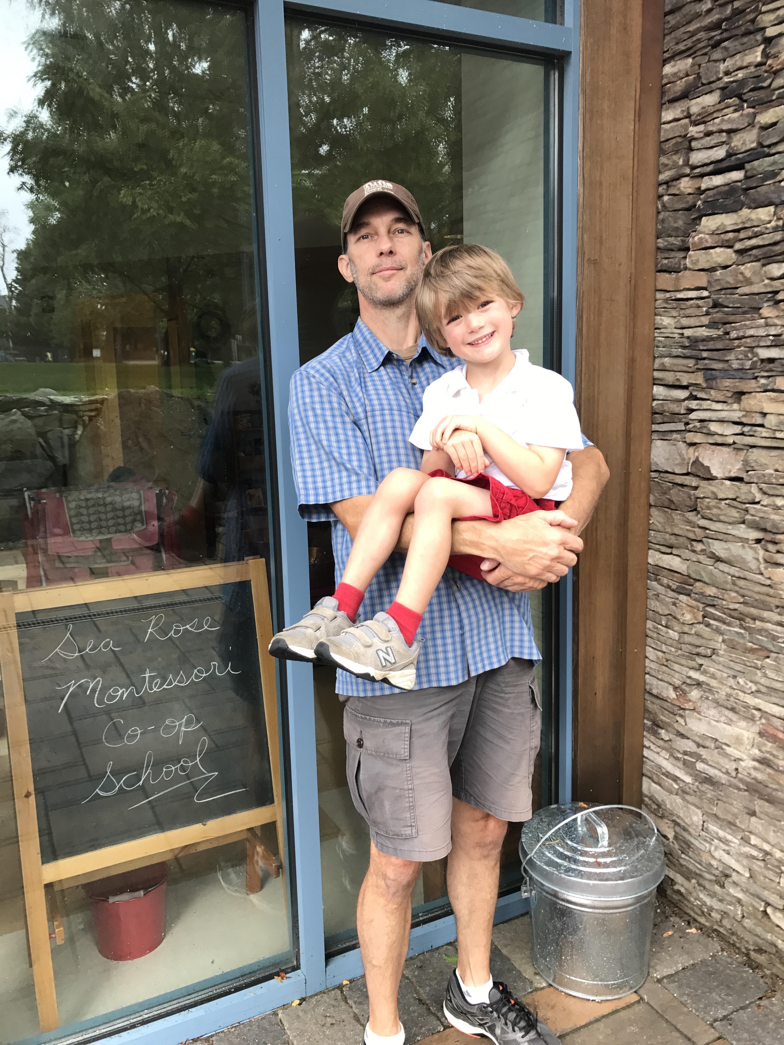 scott and Emmett first school day
