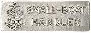 Small Boat Handler award metal pin