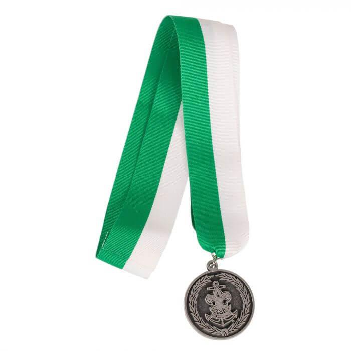 Sea Scout Leadership Award green & white ribbon and medal.