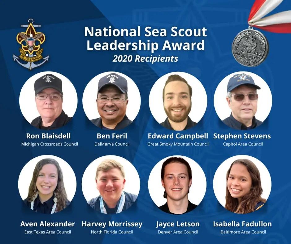 2020 National Sea Scout Leadership Award Recipients