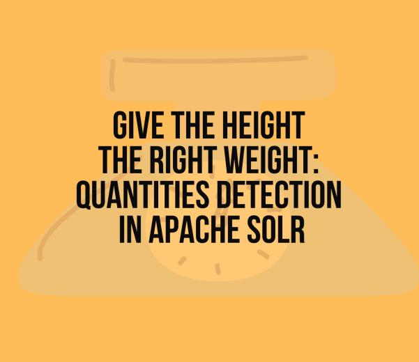 Quantities detection in Apache Solr