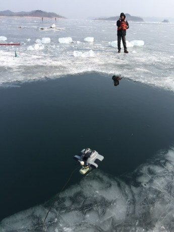 Ice deployed ROV