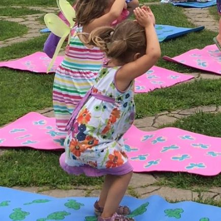 Yoga is one way you can practice mindfulness with your children